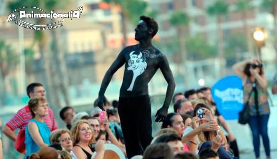 Eventos Corporativos. Animacionalia Málaga. Muelle uno. Body Painting