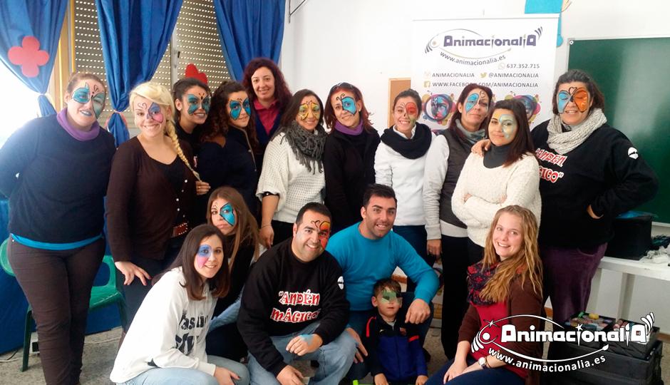 Cursos y Talleres Animacionalia Málaga. Curso de Iniciación al Maquillaje al Agua en Ronda