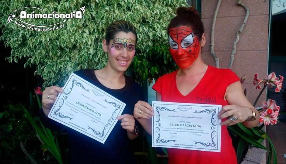 Curso de facepainting de animales en Málaga Animacionalia