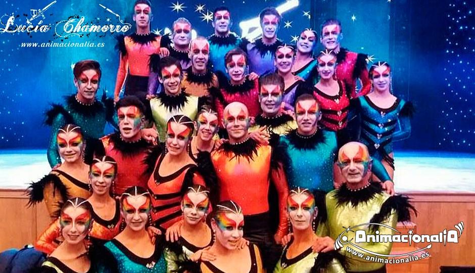 Carnaval y Comparsas Animacionalia. Grupo de baile Daniel Garcia. #MueBT2016 Torremolinos. Facepainting. Maquillaje bailarines. Animacionalia 2016