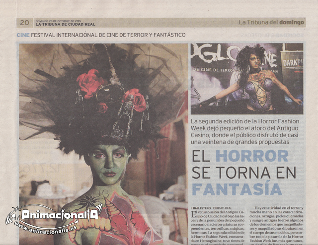 horror-fashion-week 2015. Ciudad Real . Lady Burlesque. Animacionalia 2015. La tribuna del domingo. 25 de Octubre de 2015.
