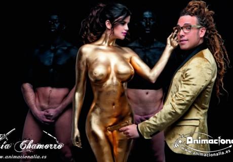 Body painting . Pintura corporal. Animacionalia Málaga. revista primera linea 2016.