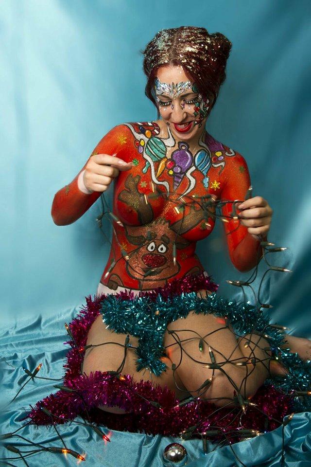 navidad 2017. Bodypainting . body painting. pintacaras. Malaga. Andalucia. Face Painting. Facepainting.